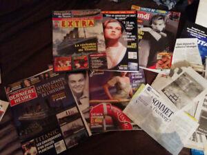 Titanic lot de revues et journaux