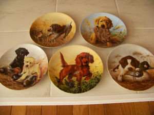 """Field Puppies"" collector Plates"
