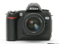 Wanted: Nikon D70 or D70s or D90 Body Only. Excellent Condition.