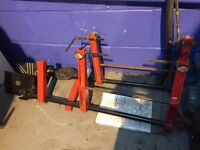 Sealey laser tracking gauges wheel alignment hardly used vgc lochgelly