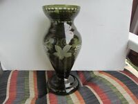 MAGNIFIQUE GRAND VASE ANTIQUE CZECH-REPUBLIC BOHÉMIEN