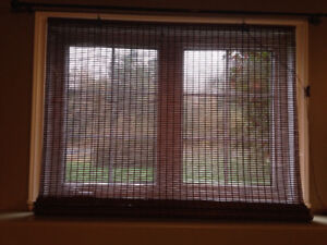 Set of 2 Woven Wood shades/blinds