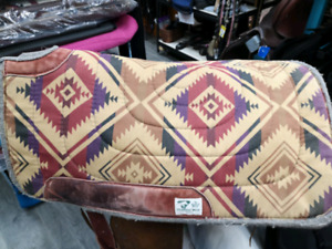Diamond wool saddle pad
