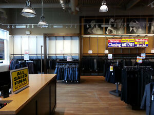 Closing Sat; Save 50%-Store Fixtures-Tip Top Tailors-Bedford