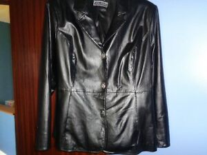 leather jacket fits XL to 1X--5mins outside Truro NOT hants co.