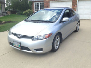 2007 HONDA CIVIC LX COUPE, 1 OWNER, CLEAN TITLE, SAFETY, $6950