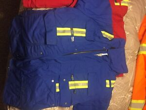 Small red and Medium blue FR jackets Prince George British Columbia image 5