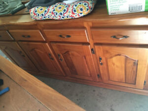 Curio cabinet for dining set (table can be purchased)solid teak