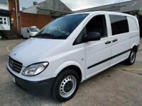 2010 10 MERCEDES-BENZ VITO 2.1 111 CDI COMPACT SWB 116 BHP AUTO CREW CAB NO VAT