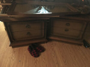 End tables ,2 mirrors bed frame and headboard