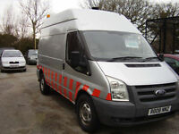 08 FORD TRANSIT 140 T350M HIGH ROOF 2402cc. CDTi. 1 owner, compressor & generato