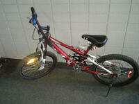 20'' red bike in good condition