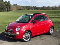 2010 FIAT 500C 1.4 LOUNGE, MANUAL, CONVERTIBLE ***54,000 MILES***BRAND NEW MOT