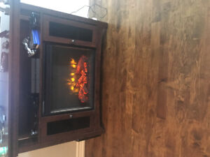 Chocolate Brown New Fireplace Stand