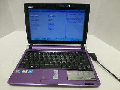 Acer Aspire One Intel Atom N270 1.60GHz 1GB RAM Purple Laptop No HDD