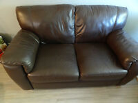 100%  leather loveseat / sofa / couch