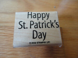 Stampin up Happy St. Patrick Day 2002 Rubber Stamp