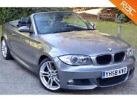 2008 58 BMW 1 SERIES 3.0 125I M SPORT 2D 215 BHP HUGE SPEC! SAT NAV+PHONE+18