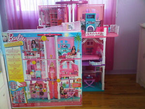 Slightly Used Barbie House/ Furnitures
