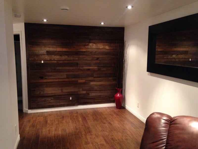 co mur bois de palette et grange d 39 interieure autre. Black Bedroom Furniture Sets. Home Design Ideas