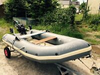10ft Avon RIB with 15hp outboard