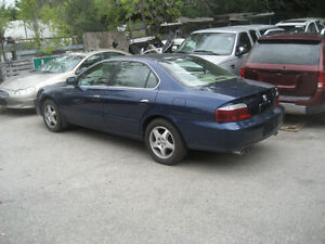 2003 ACURA 3.2 TL 4 DOOR BLUE JUST STARTED PARTING OUT