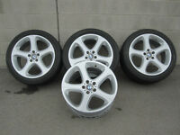 "BMW X5 OEM Factory 20"" staggered offset rims set of 4"
