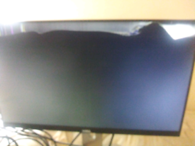 Dell UltraSharp U2414HB Black 24 with stand LCD Monitor(faulty screen)