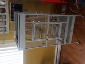 5 foot parrot cage and accessories.