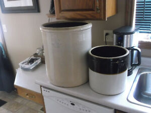 3 gallon crock $30, 8 gallon $80 ,$100 for both, no cracks