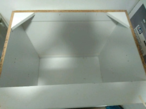 30x30 white cabinet carcass