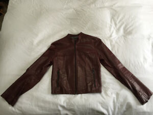 RUGBY OX BLOOD CAFE RACER JACKET / SZ SMALL /  made in Canada