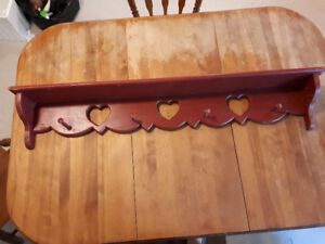 Maroon heart rack/shelf
