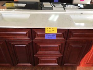 "demo cabinet, only $ 1150 for 72"" double sink vanity set!!"