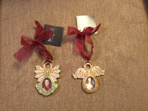 Brand New Pair of Bombay Company Photo Angel Decorations
