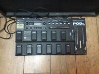 Line 6 Pod XT live Guitar Effects Pedal Board