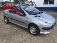 2002 Peugeot 206 1.6 Coupe Cabriolet S Silver 125,000 INCLUDES PRIVATE PLATE