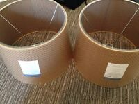 Two Threshold Large Woven Lamp Shades