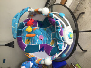 Baby bouncer, infant seat, learn and play mat