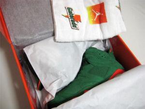 Nike Jordan 6 Green Gatorade deadstock receipt 8 8.5 9 10 10.5
