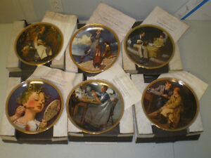 "Rockwell Society ""Rockwell's Rediscovered Women"" plates."