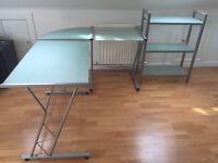 Desk and shelves for sale