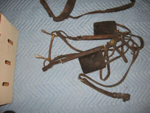 vintage cheval equitation horse cuir reins leather horse eqpment