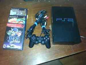 PlayStation 2 with 3 games West Island Greater Montréal image 1