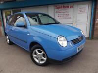 Volkswagen Lupo 1.0 E Petrol Manual 3 Door Blue 2000 (W)