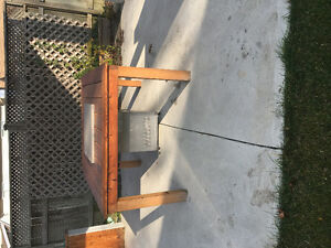 Propane fire pit plus table made for it Windsor Region Ontario image 2
