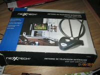 TV AntennaNexXTech Amplified VHF/UHF Indoor TV Antenna