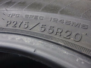 P275/55/20 Goodyear Eagle LS2 (4 tires for $100)
