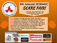 6th Annual NORMHC SCARE FAIR! (Free Admission and Activities!)