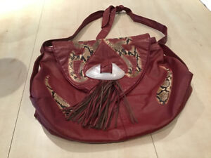 Ladies real leather tote purse